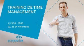 training Curs de dezvoltare personala și time-management