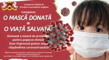 mască donată coronavirus campanie de binefacere