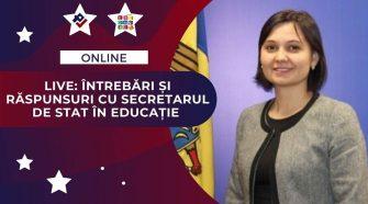 discuție online cu secretarul de stat în educație