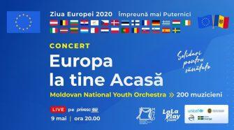 ziua europei Orchestra Națională de Tineret a Moldovei și La La Play Voices
