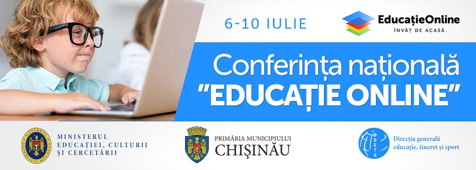 Educație Online conferința naționale pentru cadre didactice