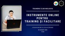 """atelier online """"Instrumente online pentru training și facilitare""""."""