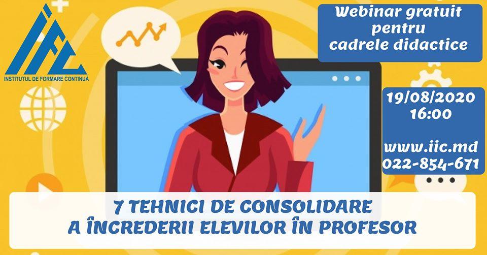 instruire online pentru profesori