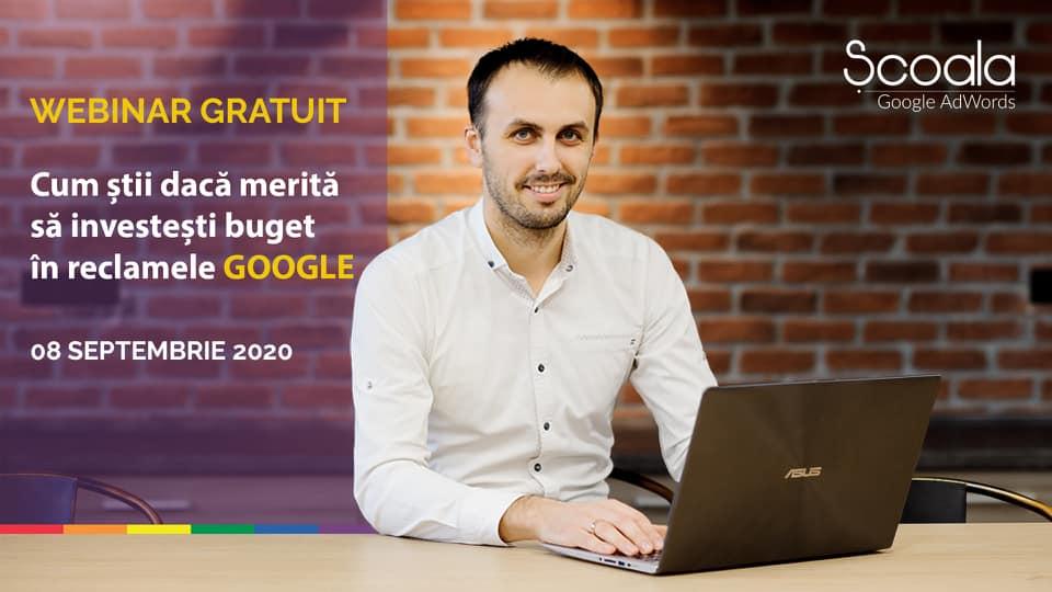 webinar gratuit reclame google