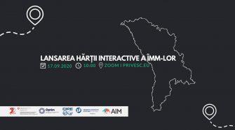 evenimentul de lansare a hartii interactive îmm-uri