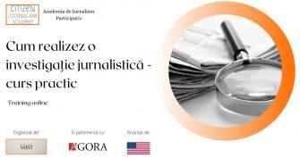 curs practic asist investigații jurnalistice