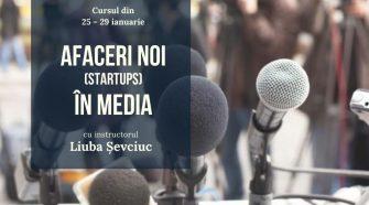 training gratuit startup în media