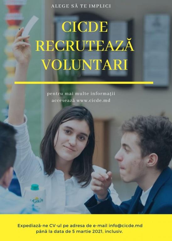 cicde oferă un program de voluntariat pentru tineri