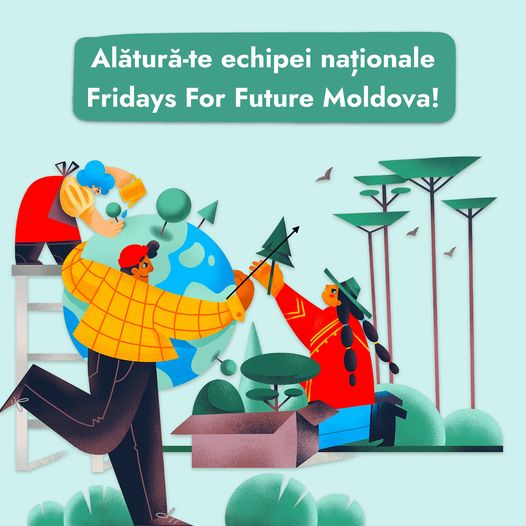 Fridays For Future Moldova recrutează tineri voluntari. Fii unul dintre ei!